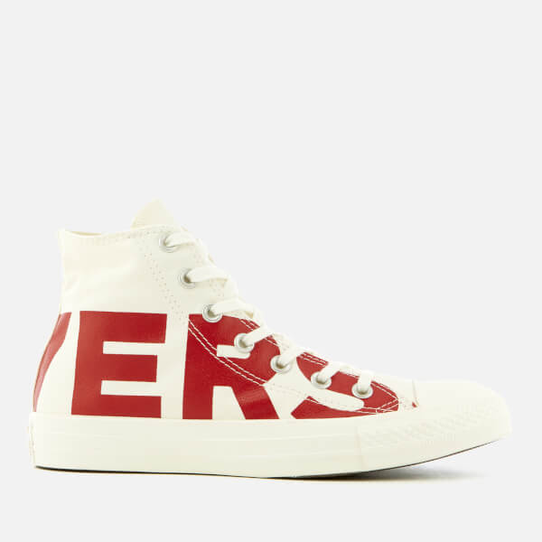 Converse Chuck Taylor All Star Hi-Top Trainers - Natural/Enamel Red/Egret