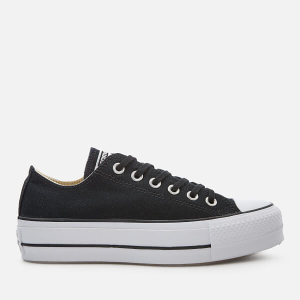 91b2f09c67d Converse Women s Chuck Taylor All Star Lift Ox Trainers - Black White   Image 1