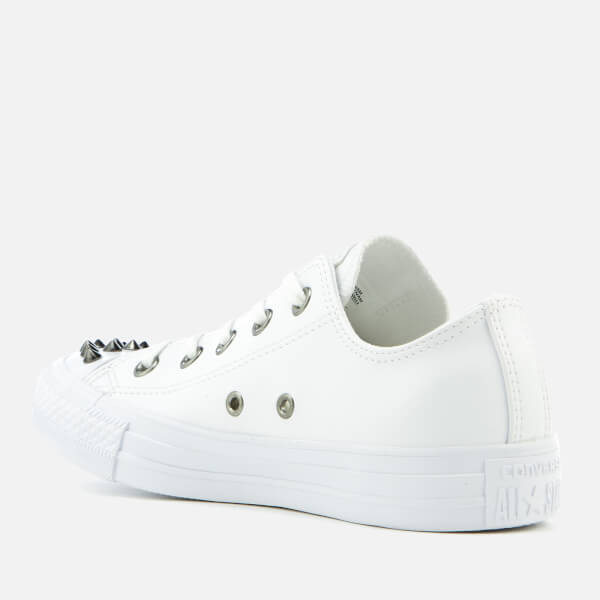 Converse Chuck Taylor All Star Stud Ox Trainers Womens Sports footwear Womens Trainers COLOUR-off white