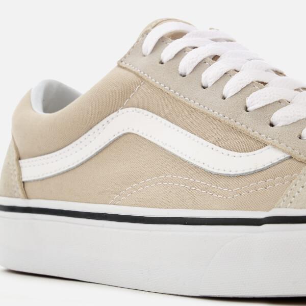17d1dfec2b1 Vans Men s Old Skool Trainers - Silver Lining True White Mens ...
