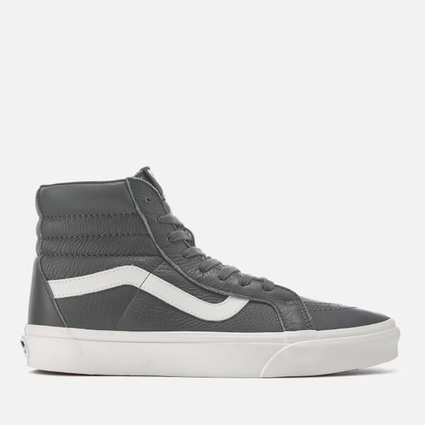 Vans Men's Sk8 Leather Hi-Top Trainers - Asphalt/Blanc De Blanc