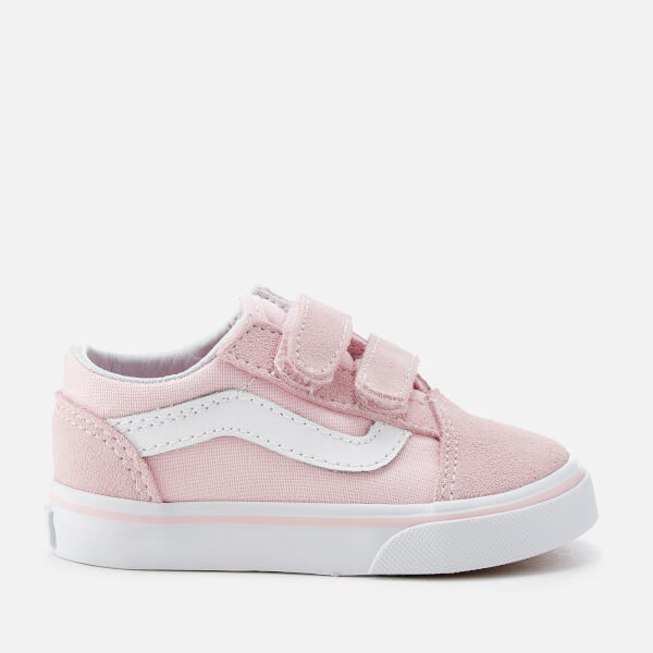 Vans Toddlers' Suede/Canvas Old Skool Trainers - Chalk Pink/True White