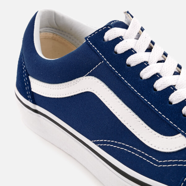 1e874a3c361 Vans Men s Old Skool Trainers - Estate Blue True White Mens Footwear ...