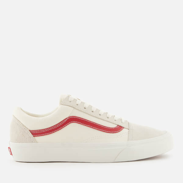9ecd28cb0912e8 Vans Men s Old Skool Trainers - Vintage White Rococco Red  Image 1
