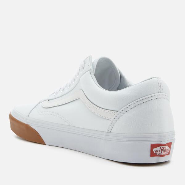 483c4bcf0933d5 Vans Men s Gum Bumper Old Skool Trainers - True White  Image 2