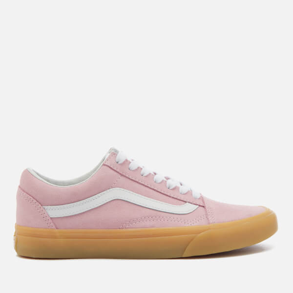 Vans Women's Double Light Gum Old Skool Trainers - Chalk Pink