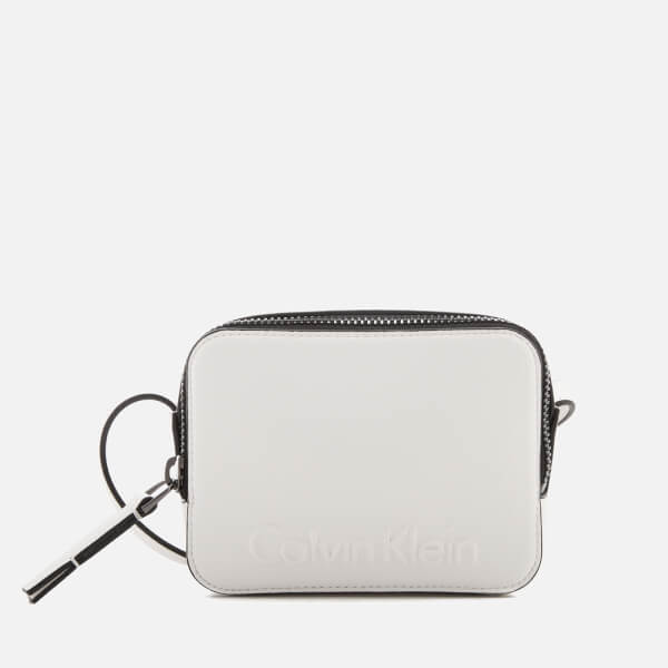 Calvin Klein Women's Edge Small Cross Body Bag - White