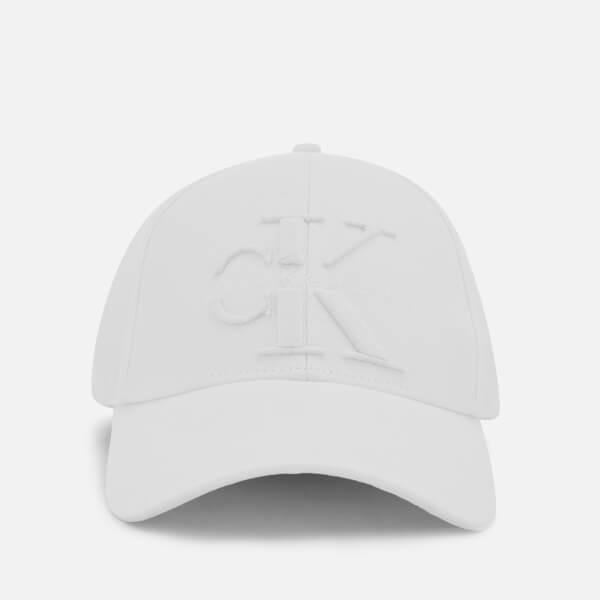 0d9421b0e Calvin Klein Women's J Re-Issue Baseball Cap - White: Image 1