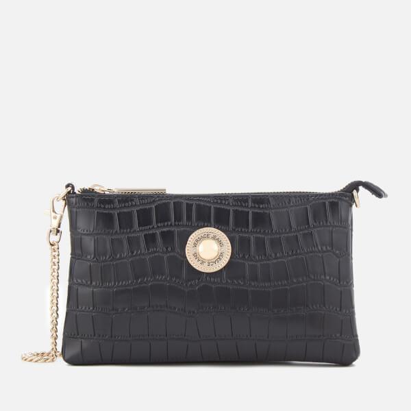 89e0abe1f442 Versace Jeans Women s Croc Print Clutch Bag - Black Womens ...