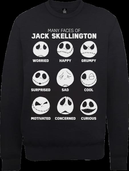 The Nightmare Before Christmas Jack Pumpkin Faces Black Sweatshirt