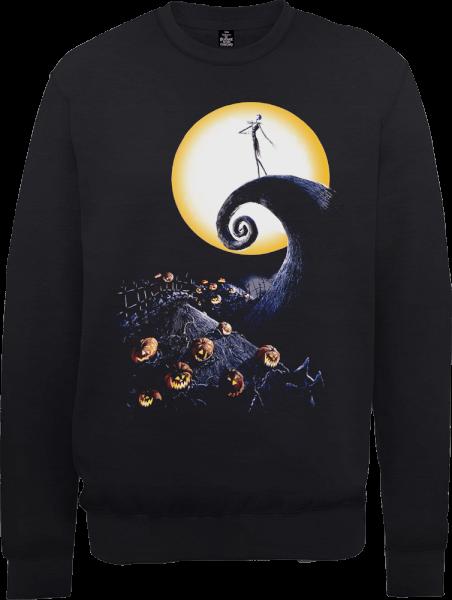 The Nightmare Before Christmas Jack Skellington Pumpkin King Colour Black Sweatshirt