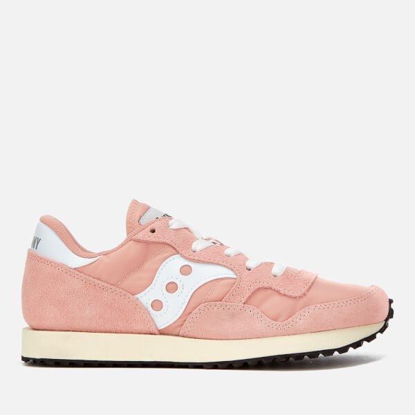 Saucony Women's DXN Vintage Trainers - Peach/White