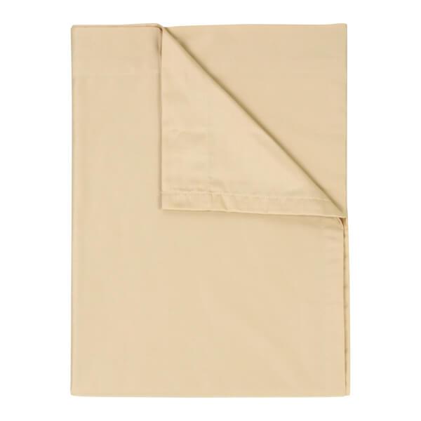 Christy 400TC Sateen Flat Sheet - Gold