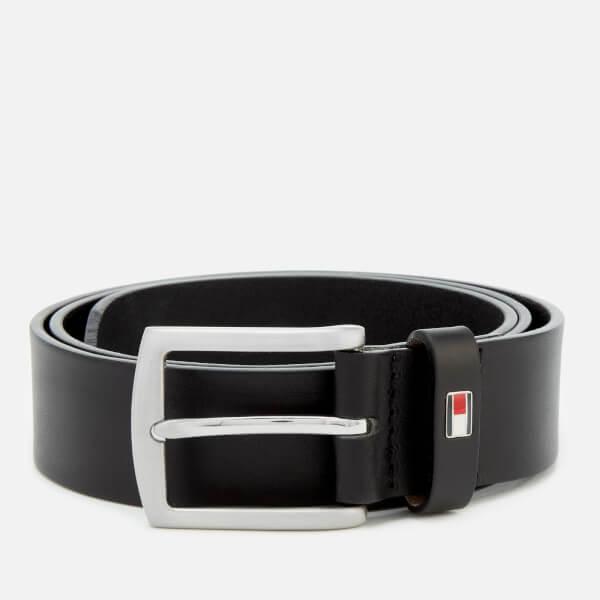 Tommy Hilfiger Men's New Denton Belt 3.5 - Black