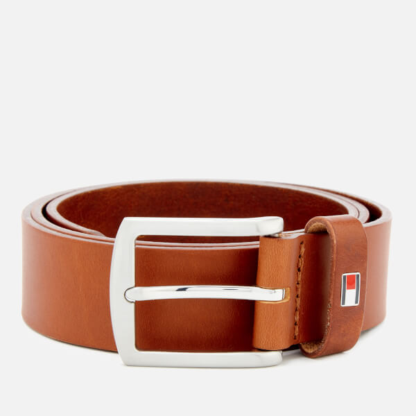 Tommy Hilfiger Men's New Denton Belt 3.5 - Dark Tan