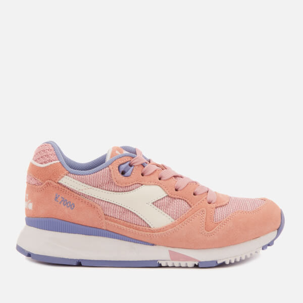 Diadora Women's V7000 NYL II Trainers - Pink Peach Pearl