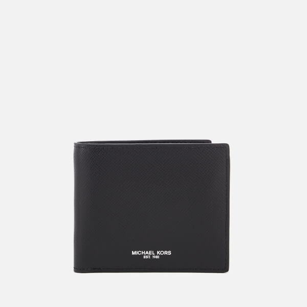 Michael Kors Men's Harrison Billfold Wallet With Coin Pocket - Black