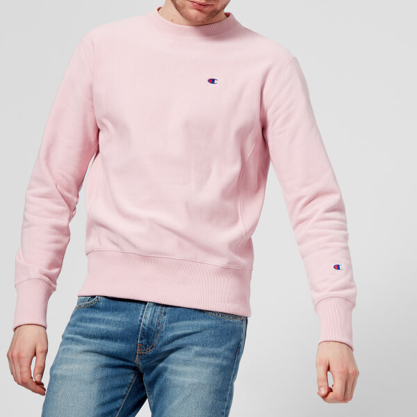 champion sweatshirt mens pink