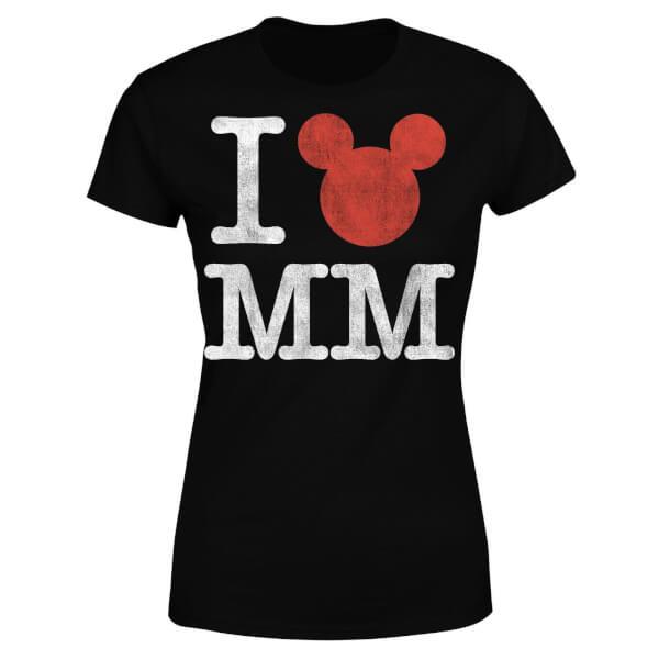Disney Mickey Mouse I Heart MM Women's T-Shirt - Black