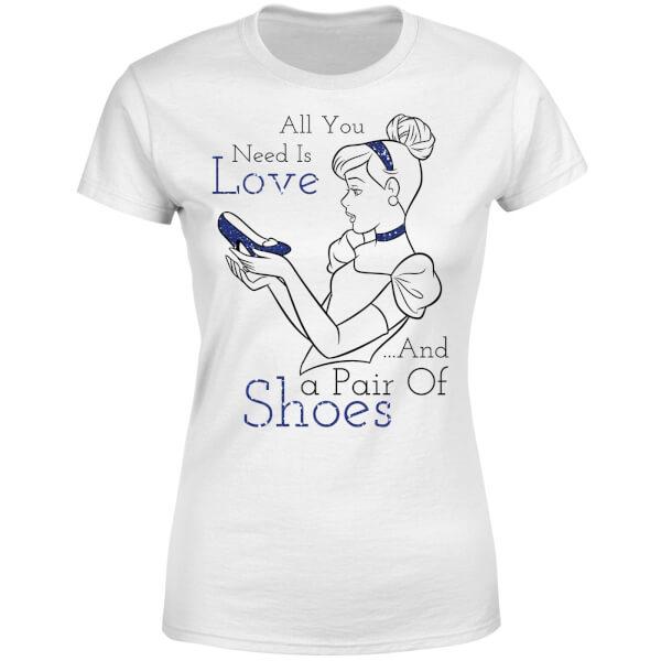 Disney Princess Cinderella All You Need Is Love Women's T-Shirt - White