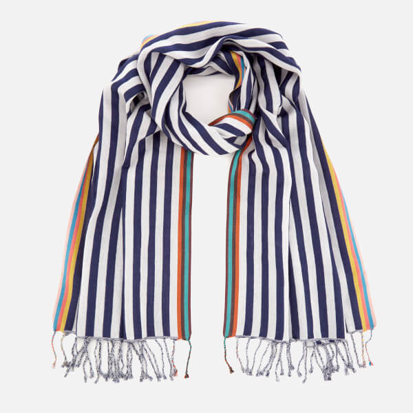 Paul Smith Accessories Men's Two Stripe Scarf - Blue