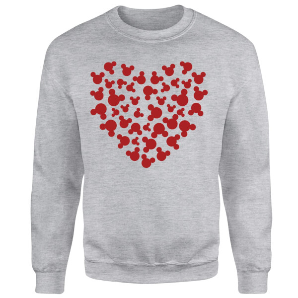 Disney Mickey Mouse Heart Silhouette Sweatshirt - Grey