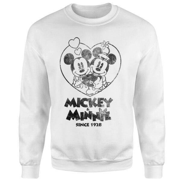 Disney Minnie Mickey Since 1928 Sweatshirt - White