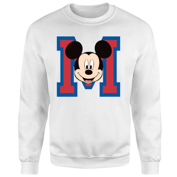 Disney Mickey Mouse M-Face Sweatshirt - White
