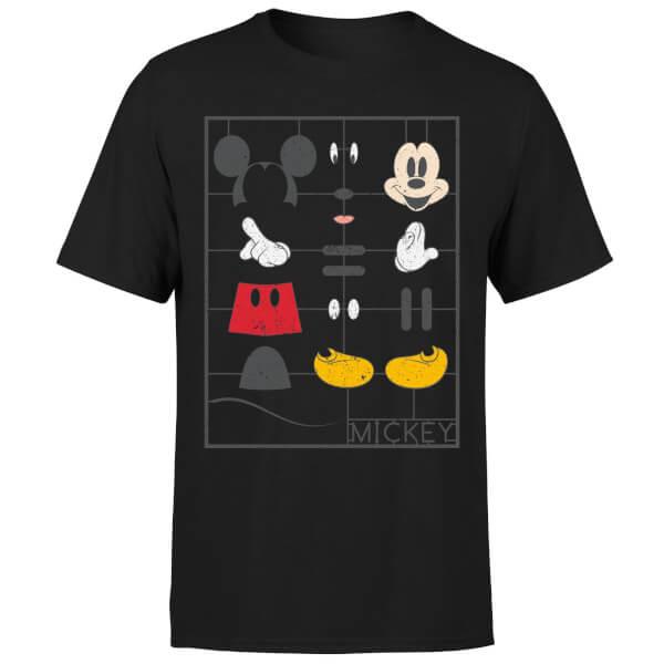Disney Mickey Mouse Construction Kit T-Shirt - Black