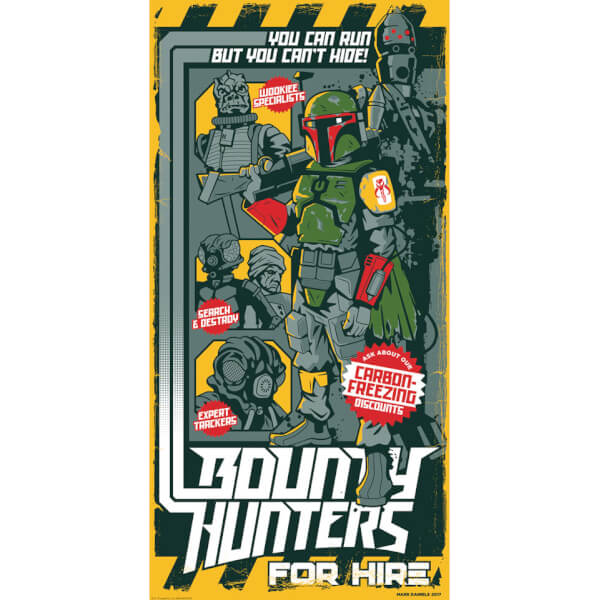 Star Wars: Bounty Hunters for Hire Silkscreen Print By Mark Daniels (12
