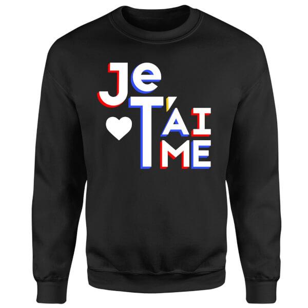 Je T'aime Sweatshirt - Black