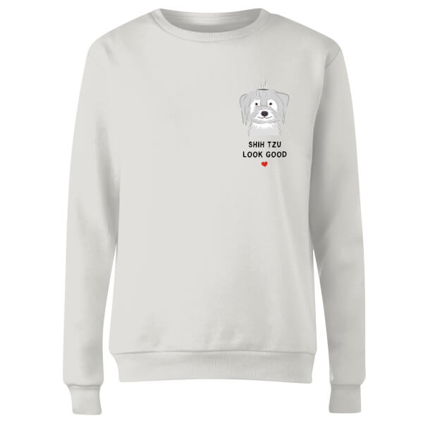 Shih Tzu Look Good Women's Sweatshirt - White