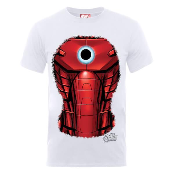 Marvel Avengers Assemble Iron Man Chest Burst T-Shirt - White