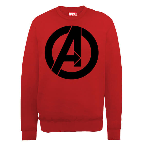Marvel Avengers Assemble Simple Logo Sweatshirt - Red