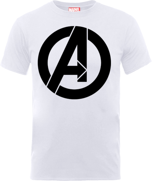 Marvel Avengers Simple Logo T-Shirt - White