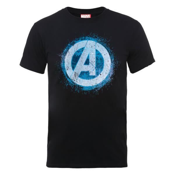 Marvel Avengers Assemble Glowing Logo T-Shirt - Black