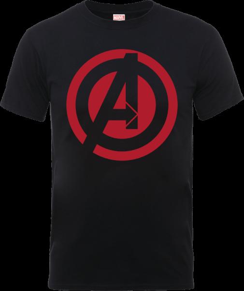 Marvel Avengers Assemble Captain America Logo T-Shirt - Black
