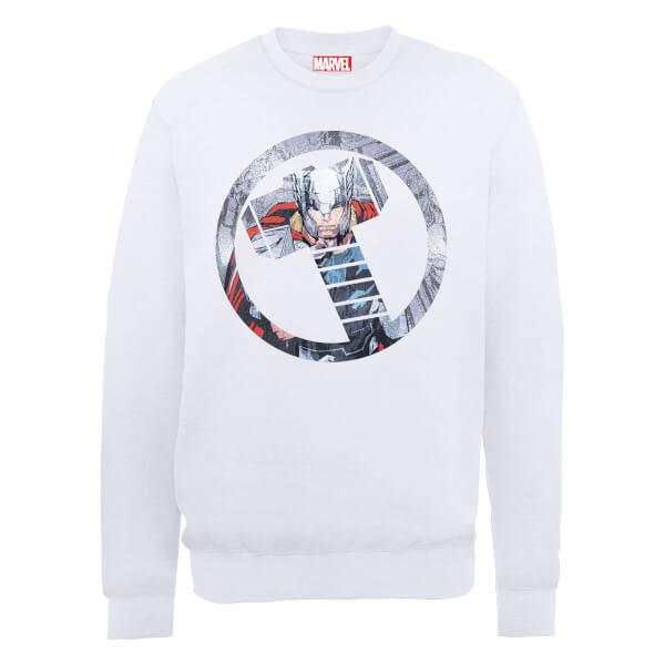 Marvel Avengers Assemble Thor Montage Sweatshirt - White