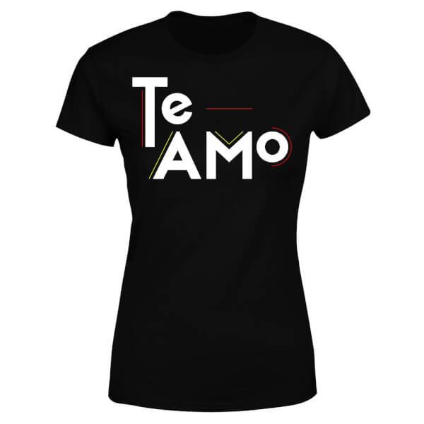 Te Amo Block Women's T-Shirt - Black