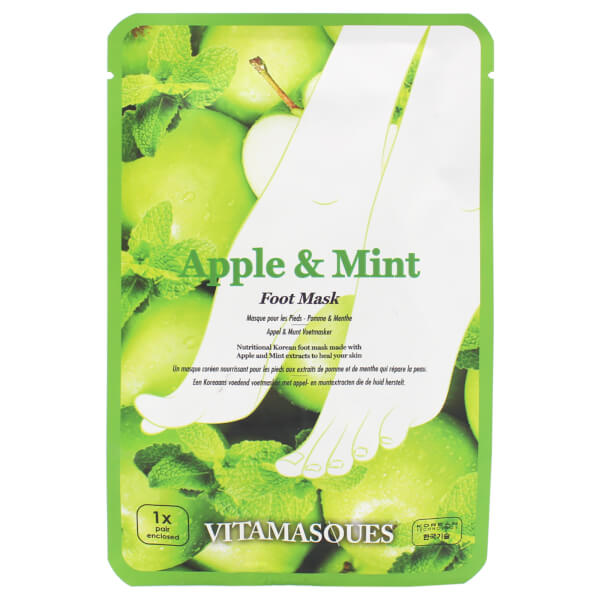 Vitamasques Apple and Mint Foot Masks 2 x 16g