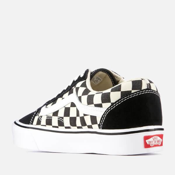 c7b57eb88c26 Vans Checkerboard Old Skool Lite Trainers - Black White  Image 2