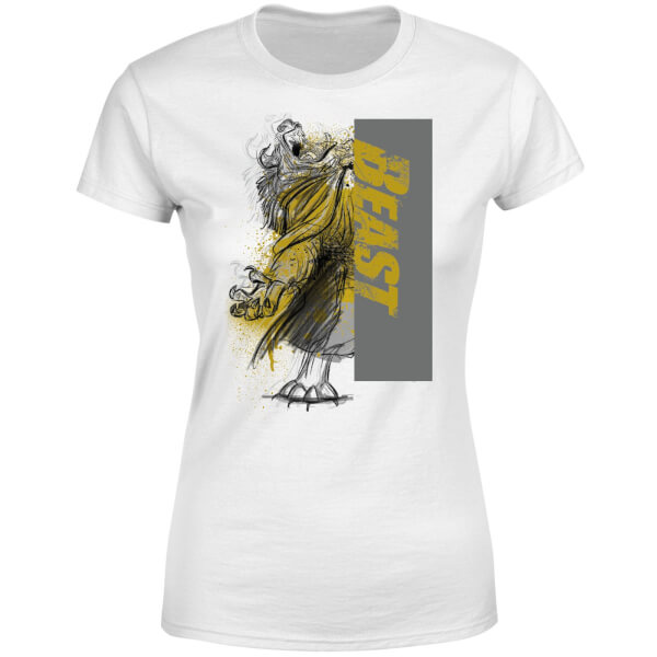 Disney Beauty And The Beast Rage Women's T-Shirt - White