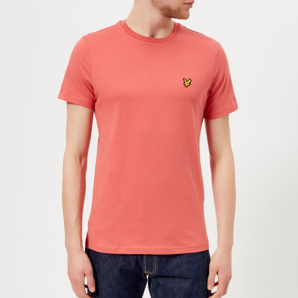 Lyle & Scott Men's Crew Neck T-Shirt - Sunset Pink - M - Pink