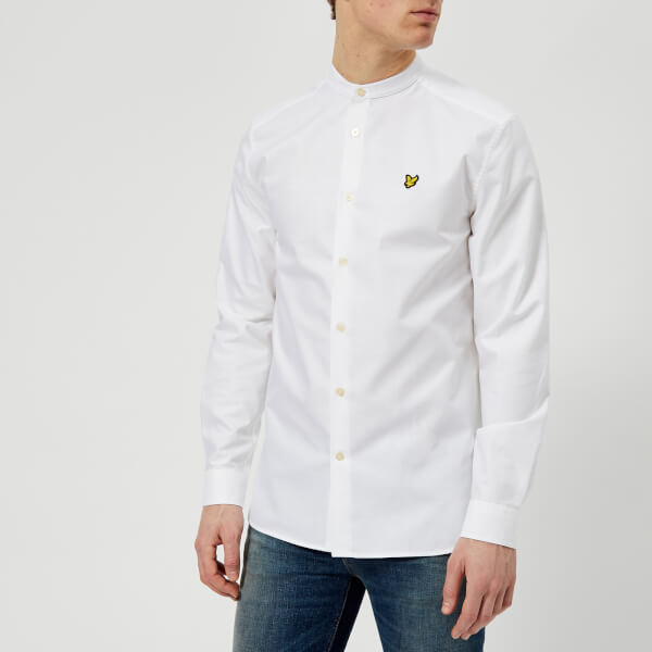 Lyle & Scott Men's Grandad Collar Shirt - White - L - White