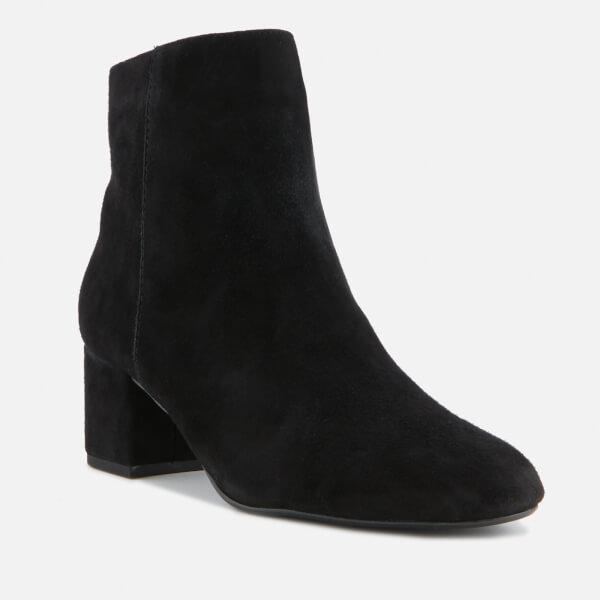 3690b486725 Dune Women s Olyvea Suede Heeled Ankle Boots - Black  Image 2