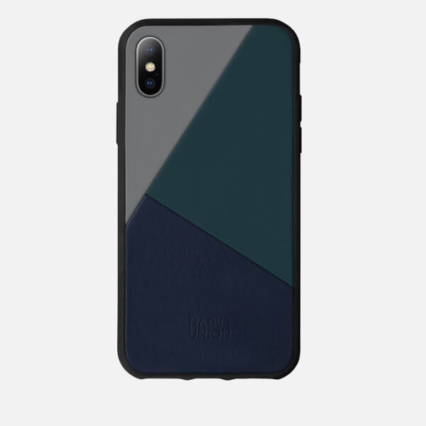 Native Union Clic Marquetry - iPhone X Case - Petrol Blue