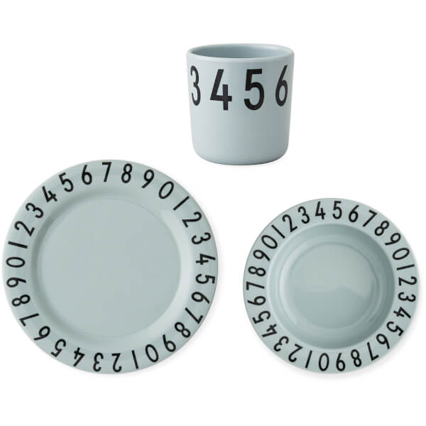 Design Letters Kids' Collection Melamine Numbers Gift Set - Turquoise