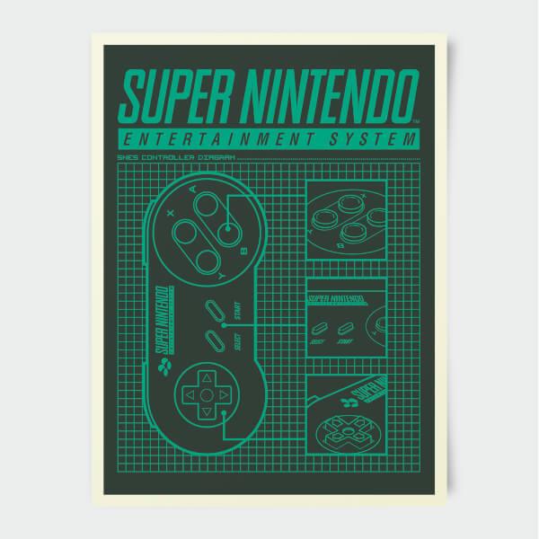 Nintendo Super Nintendo Entertainment System Print