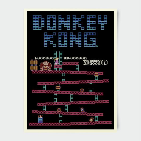 Nintendo Donkey Kong Retro Print