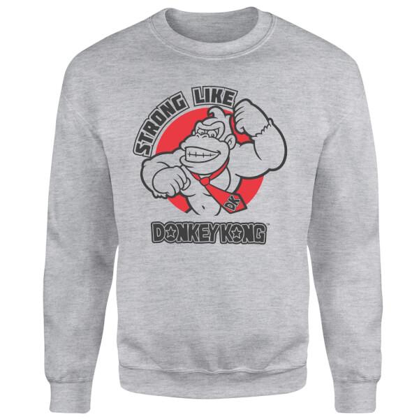 Nintendo Strong Like Donkey Kong Sweatshirt - Grey